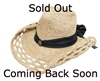 wholesale cowgirl hats raffia straw hat with sash