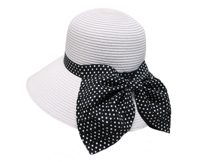 wholesale lampshade womens hats polka dot bow