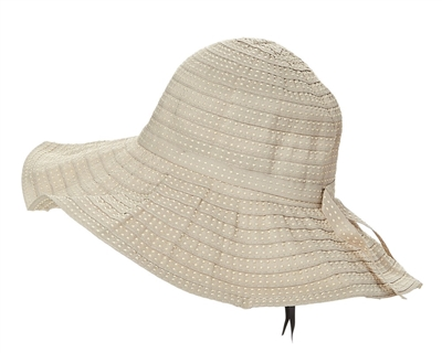 wholesale shapeable ribbon sun hats contrast stitching
