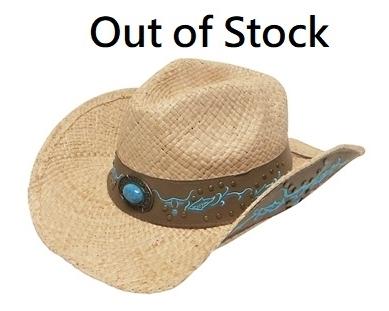 Wholesale Organic Raffia Straw Cowboy Hats - Premium Ladies Cowgirl Hats 7f242cfbb392