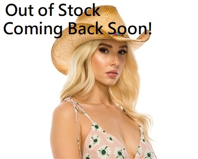 2769b13abb4 wholesale womens raffia cowboy hat multicolor braid