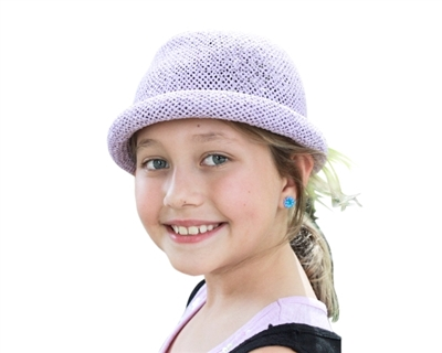 wholesale kids hats girls summer roller blank hat solid colors