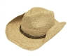 wholesale raffia straw cowboy hats womens mens