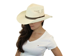 wholesale bangora straw cowboy hat  side cutouts