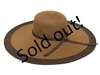 wholesale 6 inch wide brim sun hats - bulk straw beach hats