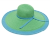 wholesale large 6 inch brim sun hats - bulk wide brim straw beach hats
