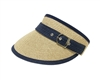 bulk straw sun visor hats - fashion buckle - wholesale sun visors
