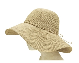 wholesale sun hats - organic raffia straw crochet wide brim