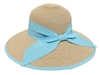 wholesale hat big lampshade wide brim with color bow and edge