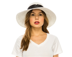 wholesale straw sun hats backless with bow