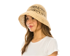 wholesale Open Weave Straw Sun Hat