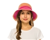 wholesale 2-tone tweed straw bucket hat