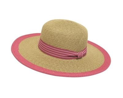 640 Medium Brim Sun Hat with Color Edge