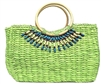 wholesale beaded straw handbag