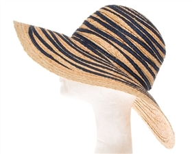 wholesale wide brim raffia and paper straw sun hat
