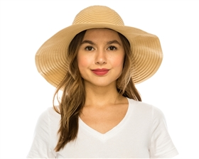 wholesale packable hats womens crusher ribbon hat