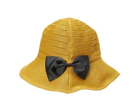 wholesale polyester hats womens removable bow