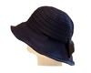 bulk navy blue hats - buy hats by the dozen - womens removable bow
