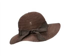 Wholesale Ladies Hats - Knit Sun Hat - Fall Hat with Bow