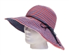 Wholesale Womens Sun Hats Ribbon Denim Crusher