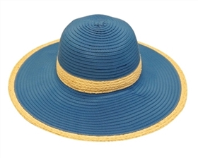 wholesale hats sun protection upf 50 wide brim ribbon crusher hat