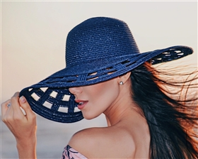 Wholesale Wide Brim Sun Hats - Square Cutouts
