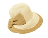 Wholesale Straw Hats - Womens Lampshade Hat with Bow