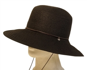 Sun Protection Hats - Straw with Ribbon Brim