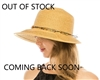 Wholesale Beach Hats - Straw Lampshade Hat with Charms