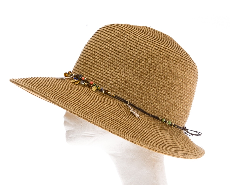0d085e37ef4e8f Wholesale Womens Straw Hats - Lampshade Beach Hat with Sea Life Charms