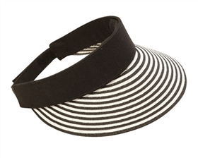 Wholesale Sun Visor Hats - Striped
