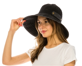 Wholesale Packable Hats - Ribbon Crusher Hat for Women -