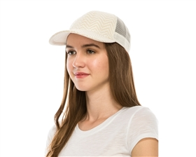 wholesale womens baseball caps - fashion trucker hats - zigzag pattern