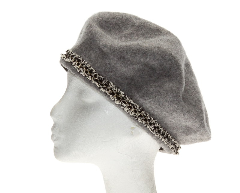 47ffa913431b95 Wholesale Wool Hats - Winter Berets Women's Hat Sparkly Band