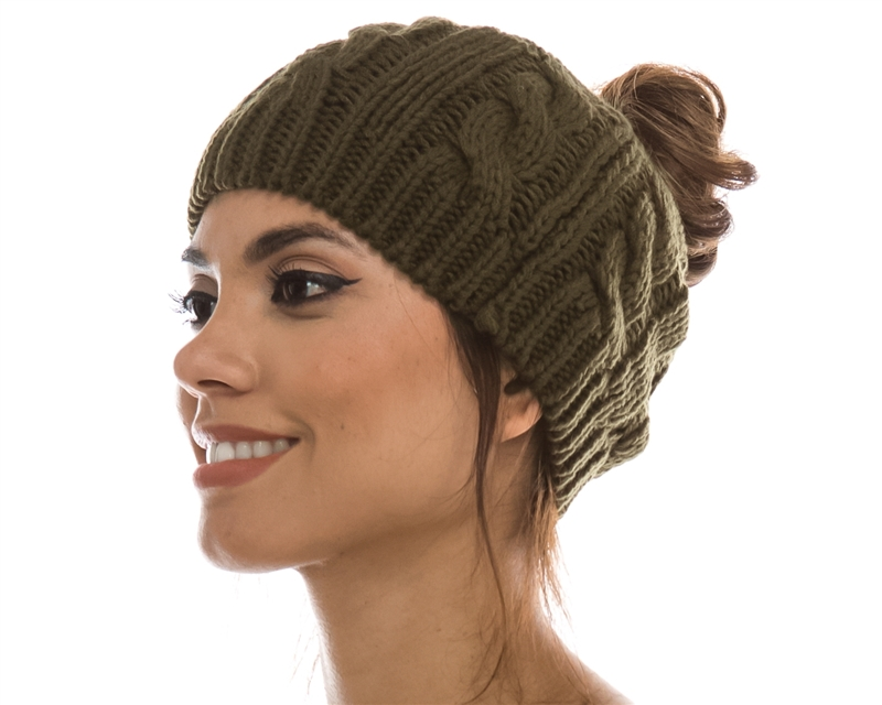 Wholesale Women\'s Beanie Hats Twist Pattern
