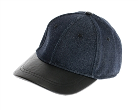 wholesale fashion denim leather baseball hats - womens winter caps