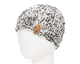wholesale Messy Bun Hat Tweed + Buttons