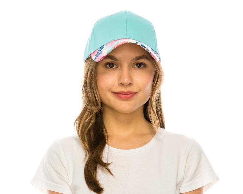 Wholesale Tropical Brim Baseball Cap Womens Beach Straw Sun Hat b1b2f4e7408