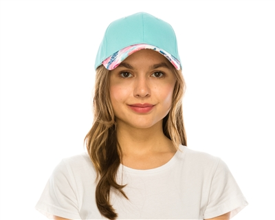 Wholesale Tropical Brim Baseball Cap Womens Beach Hat