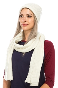 wholesale beanie scarf set