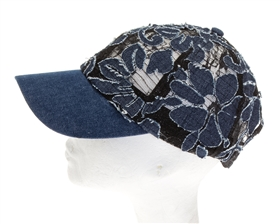 Wholesale Floral Burnout Baseball Cap Womens Beach Hat