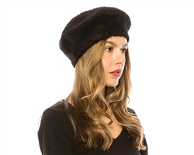 Vegan Fur Berets Wholesale - Wholesale Vegan Fur Beret Hats - Women's Winter Hats Supplier