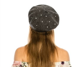 wholesale Star Embroidery Wool Beret