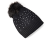 wholesale Fur Pom Studded Beanie