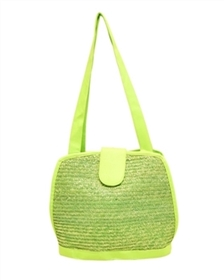 bulk handbags - wholesale neon straw bags