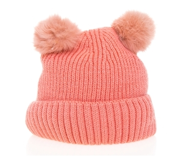 wholesale Kid's Double Pom Pom Beanie