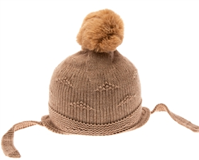 wholesale kids beanie hats - matching pom