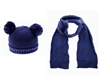 wholesale kids double pom beanie hats