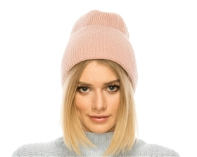 wholesale fashion beanies - womens pom Wide Cuff Lurex Beanie wholesale - 2020 wholesale beanie hats