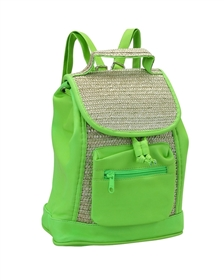wholesale kids backpack neon straw